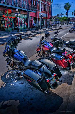 Metal Tires Photograph - Hogs On 7th Ave by Marvin Spates