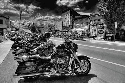 Hogs On Main Street Art Print by David Patterson