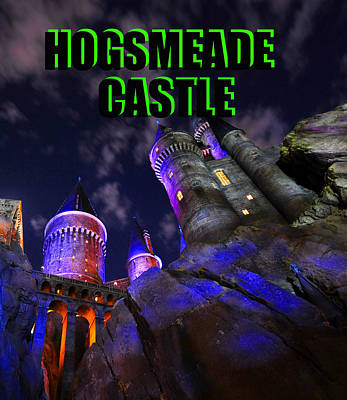 Photograph - Hogsmeade Castle Poster Green by David Lee Thompson