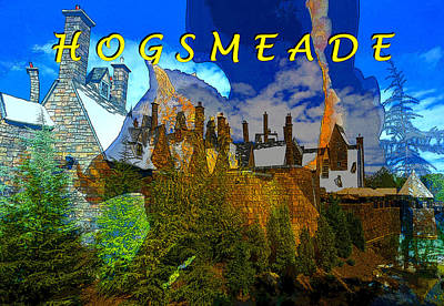Digital Art - Hogsmeade Poster A by David Lee Thompson