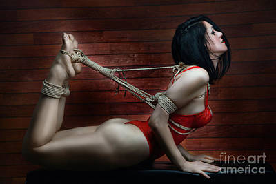 Fetish Photograph - Hogtied - Fine Art Of Bondage by Rod Meier