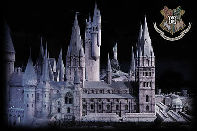 Mixed Media - Hogwards School  by Gina Dsgn