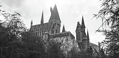 Photograph - Hogwarts Castle Black And White by Aimee L Maher Photography and Art Visit ALMGallerydotcom