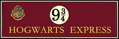 Harry Potter Hogwarts Express Train Platform 9 3/4 Sign  Original by Dimex Studio