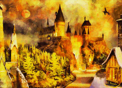 Harry Potter Painting - Hogwarts by George Rossidis