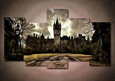 Digital Art - Hogwarts U by Mario Carini