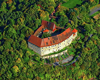 Photograph - Hoheneck Castle by Anthony Dezenzio