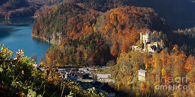 Photograph - Hohenschwangau Castle And Alpsee Panorama by Rudi Prott