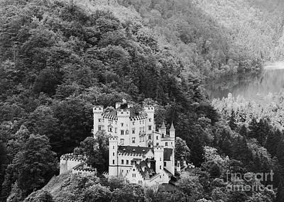 Photograph - Hohenschwangau Castle Bw by Rudi Prott
