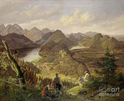 Malerei Painting - Hohenschwangau by Celestial Images