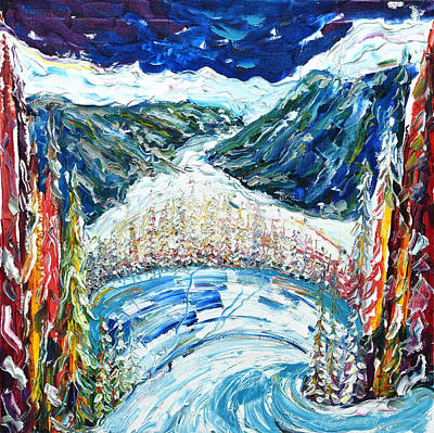 Painting - Hohenweg Davos Dorf by Pete Caswell