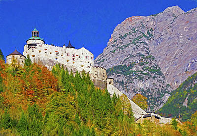 Mixed Media - Hohenwerfen Castle by Dennis Cox Photo Explorer