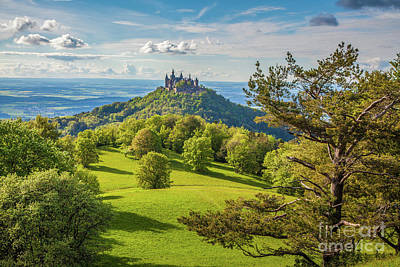 Photograph - Hohenzollern Castle At Sunset by JR Photography