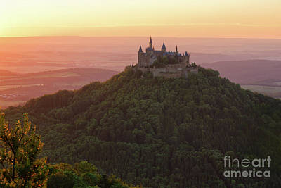 Photograph - Hohenzollern Castle At Sunset by Yair Karelic