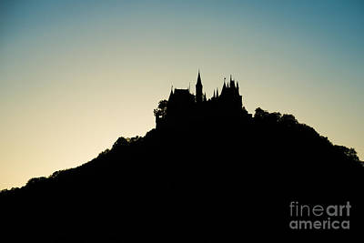 Photograph - Hohenzollern Castle Silhouette by Alexander Kunz