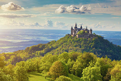 Nature Photograph - Hohenzollern Castle Sunset by JR Photography