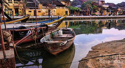 Hoi An Boats Peaceful  Art Print