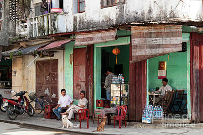 Photograph - Hoi An Corner Cafe 01 by Rick Piper Photography