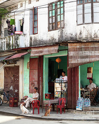 Photograph - Hoi An Corner Cafe 02 by Rick Piper Photography