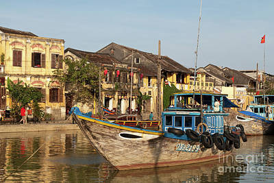 Photograph - Hoi An Fishing Boats 04 by Rick Piper Photography