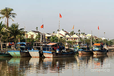 Photograph - Hoi An Fishing Boats 08 by Rick Piper Photography