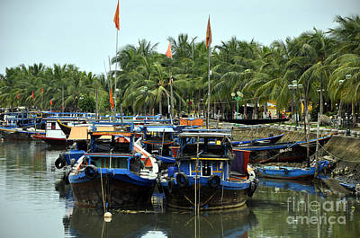 Photograph - Hoi An Fishing Boats by Andrew Dinh