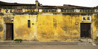 Photograph - Hoi An Tan Ky Wall 06 by Rick Piper Photography