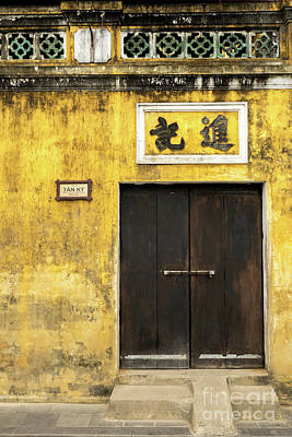 Photograph - Hoi An Tan Ky Wall 08 by Rick Piper Photography