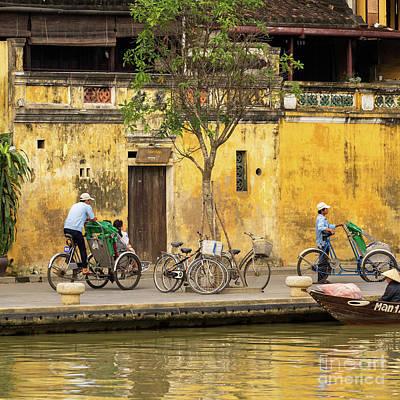 Photograph - Hoi An Tan Ky Wall Cyclo 01 by Rick Piper Photography