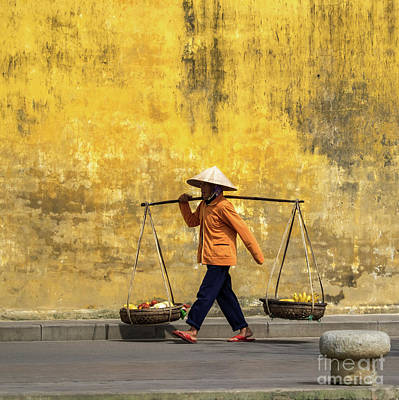 Photograph - Hoi An Tan Ky Wall Hawker 08 by Rick Piper Photography