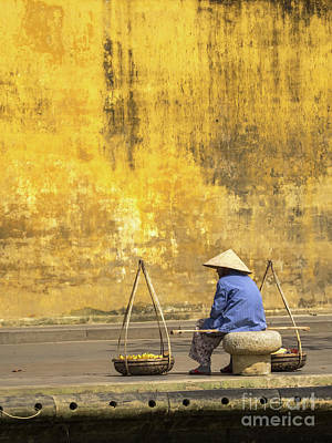 Photograph - Hoi An Tan Ky Wall Hawker 14 by Rick Piper Photography
