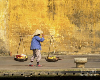 Photograph - Hoi An Tan Ky Wall Hawker 15 by Rick Piper Photography