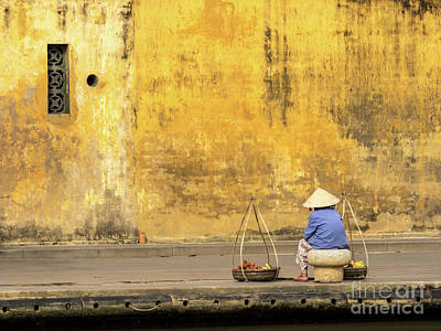 Photograph - Hoi An Tan Ky Wall Hawker 16 by Rick Piper Photography