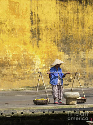 Photograph - Hoi An Tan Ky Wall Hawker 17 by Rick Piper Photography
