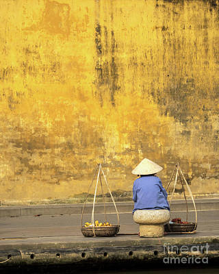Photograph - Hoi An Tan Ky Wall Hawker 18 by Rick Piper Photography