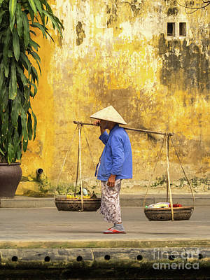 Photograph - Hoi An Tan Ky Wall Hawker 19 by Rick Piper Photography