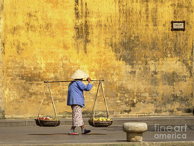 Photograph - Hoi An Tan Ky Wall Hawker 21 by Rick Piper Photography