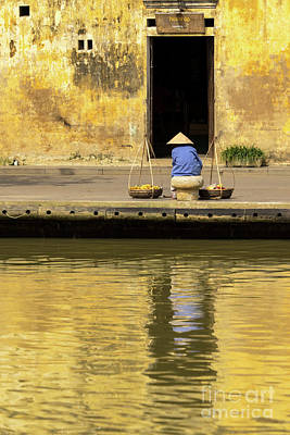 Photograph - Hoi An Tan Ky Wall Hawker 22 by Rick Piper Photography