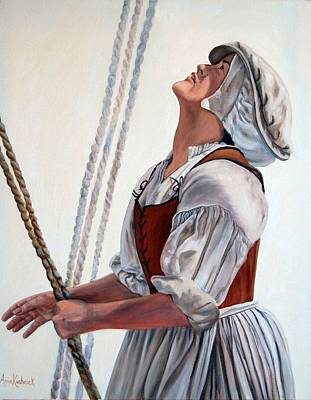 Painting - Hoisting Sails by Anne Kushnick