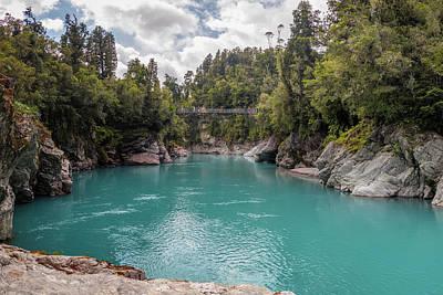 New River Gorge Bridge Photograph - Hokitika Gorge New Zealand II by Joan Carroll