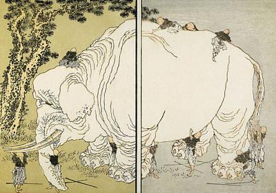 Hokusai: Elephant Art Print by Granger