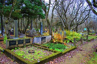 Photograph - Holavallagardur Cemetery Reykjavik Iceland by Deborah Smolinske