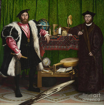 Painting - Holbein, Ambassadors, 1533 by Granger
