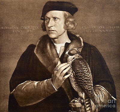 Photograph - Holbein: Falconer, 1533 by Granger