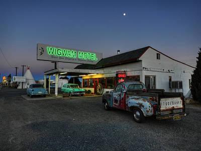 Truck Photograph - Holbrook Az - Wigwam Motel 014 by Lance Vaughn