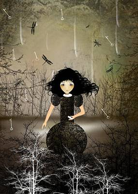 Rain Digital Art - Hold Back The Rain by Charlene Zatloukal