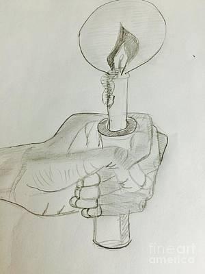 Drawing - Hold Candle  by Charita Padilla