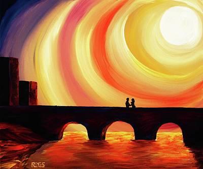 Hold Me Art Print by Angel Reyes