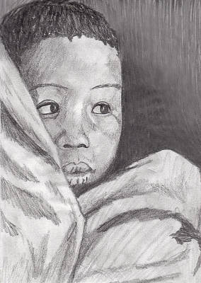 Art Print featuring the drawing Hold Me Mom by Jean Haynes