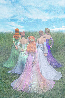Gown Digital Art - Hold My Hand by Betsy Knapp